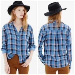 MADEWELL Cotton Flannel Button Down Shirt - Sz S